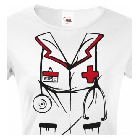 Dámské tričko pro zdravotní sestry - Nurse BezvaTriko