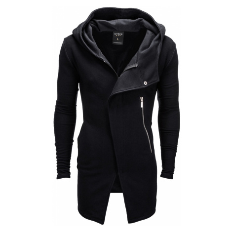 Pánská mikina na zip s kapucí Hugo černá Ombre Clothing