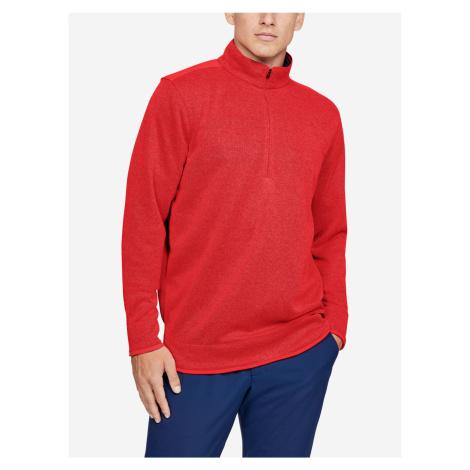 Mikina Under Armour Sweaterfleece 1 2 Zip Červená