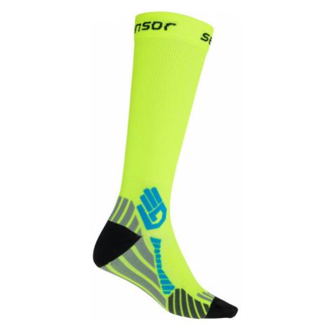 COMPRESS Funkční kompresní ponožky reflex 17100125 žlutá Sensor