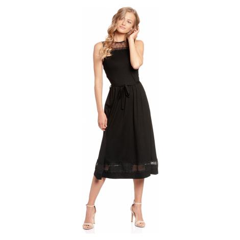 Dlouhé letní šaty černé bez rukávů Vive Maria Pařížské léto