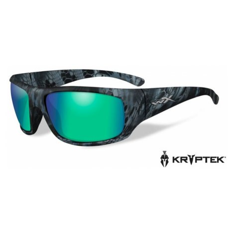 Sluneční brýle Wiley X® Omega - rámeček Kryptek Neptune™, modré zrcadlové čočky Emerald Amber po