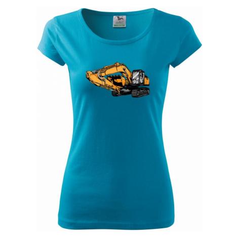 Žlutý bagr z boku - Pure dámské triko