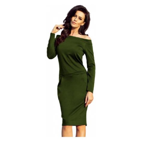 Dámské šaty Numoco 225-1 | khaki