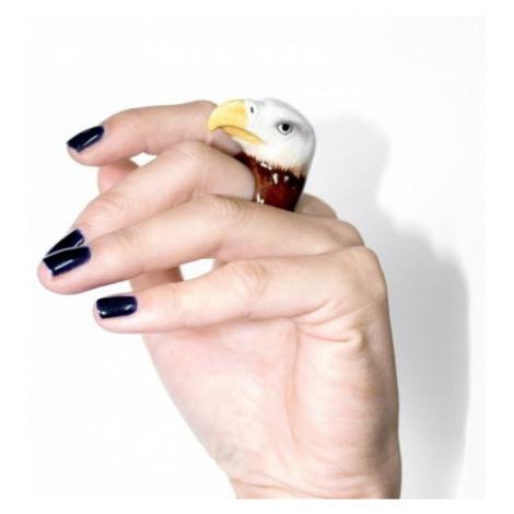 Porcelánový prsten Orel nach BIJOUX