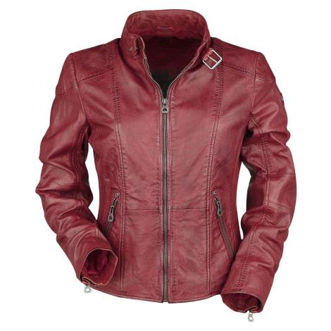 Gipsy Kina LEGV Dámská kožená bunda červená