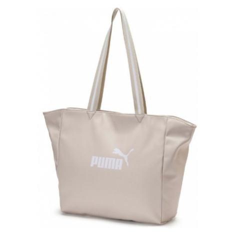 Puma CORE UP LARGE SHOPPER WMN béžová - Dámská stylová taška