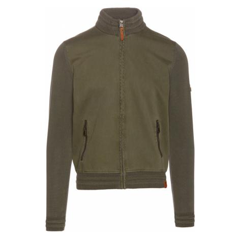 Svetr Camel Active Jacket Twill Mix - Zelená