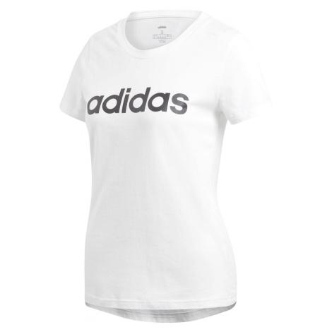 Dámské tričko adidas ESSENTIALS LINEAR Bílá / Černá