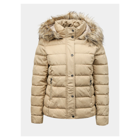 Only béžová zimní bunda Luna