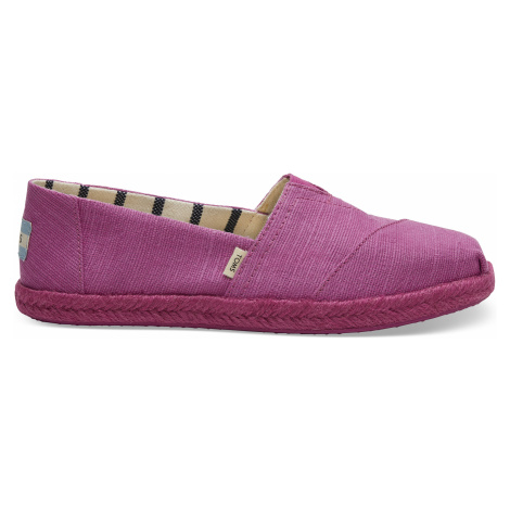 Rose Violet Heritage Canvas Women Alpargata Rope Sole Toms