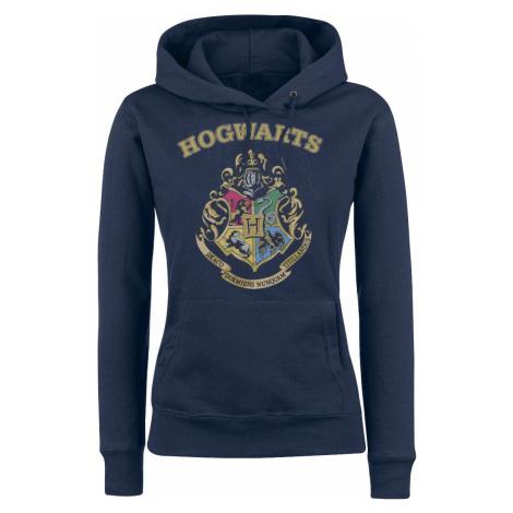 Harry Potter Hogwart's Crest dívcí mikina s kapucí modrá