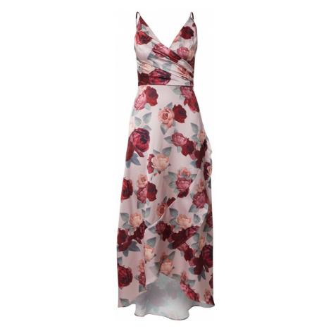 Chi Chi London Koktejlové šaty 'Mabel' růžová / pastelově zelená / červená / tmavě červená / růž