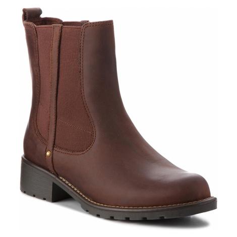 Kotníková obuv s elastickým prvkem CLARKS - Orinoco Hot 261381714 Tan Warmlined Leather