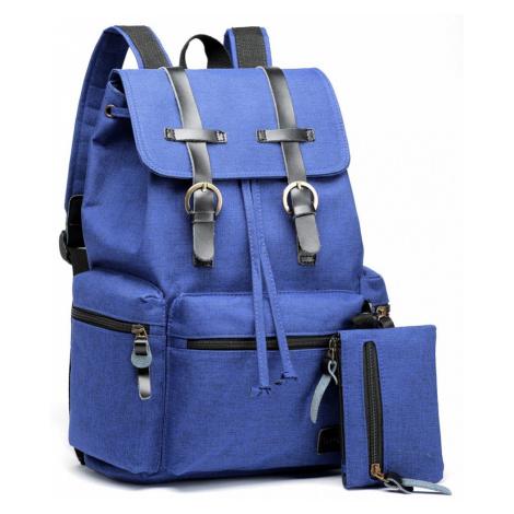 Světle modrý stylový unisex batoh s malou etuí Dellbie Lulu Bags