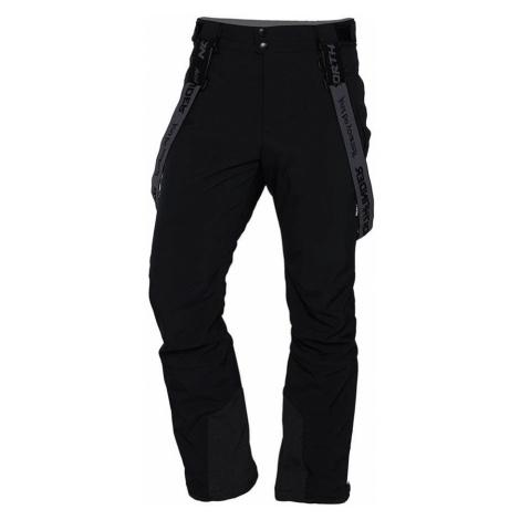 NORTHFINDER HARSY Pánské lyžařské softshellové kalhoty 3L NO-3654SNW269 černá