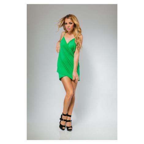 Plážové šaty/tunika pareo barva zelená
