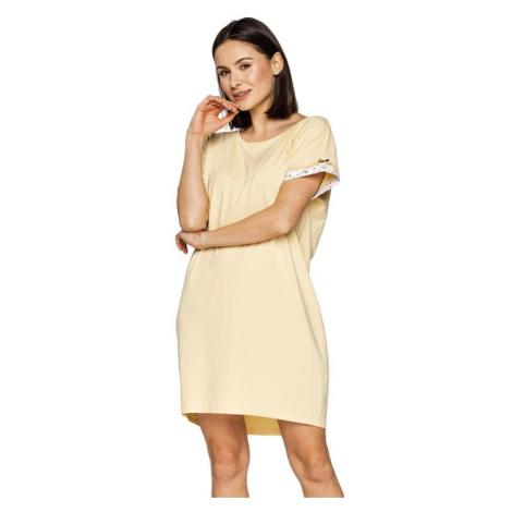 Luxusní noční košilka Camilla žlutá Cana