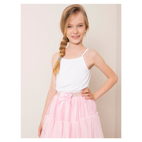 Bílý bavlněný top pro dívku FPrice