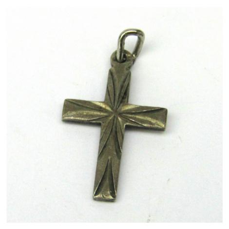 AutorskeSperky.com - Stříbrný přívěsek kříž - S3384