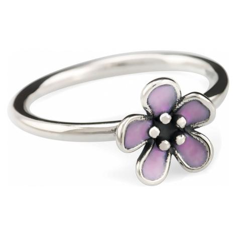 iocel.cz Stříbrný prsten Flower pink IPR016 Velikost: 54