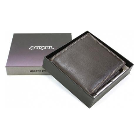Hnědá kožená elegantní peněženka Gaynor Arwel