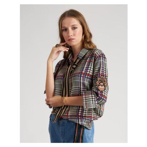 Košile La Martina Woman Shirt Long Sleeves Print - Různobarevná