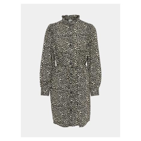 Jacqueline de Yong šedé vzorované košilové šaty Milo