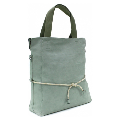 Světle zelená velká dámská zipová taška Liealia Tony