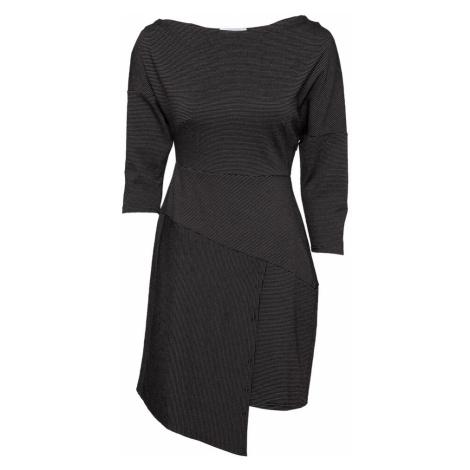 Closet London Šaty černá / šedý melír