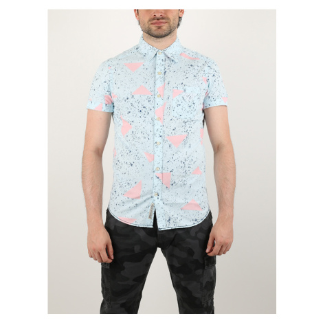 Košile Alcott ALLOVER PRINTED WITH POCKET Modrá