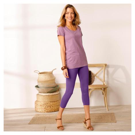 Blancheporte Korzárské kalhoty s pružným pasem purpurová