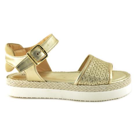 Sandále La Martina Woman Sandal Perforate Laminate - Žlutá