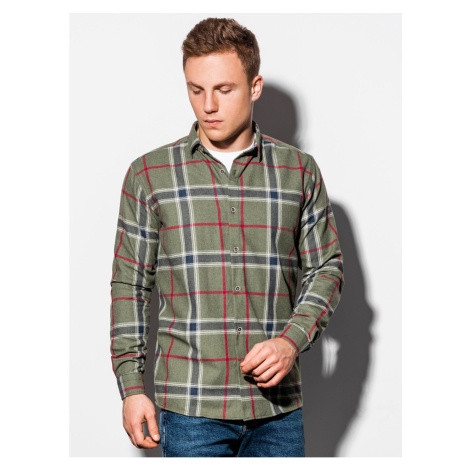 Ombre Clothing Men's shirt with long sleeves K564