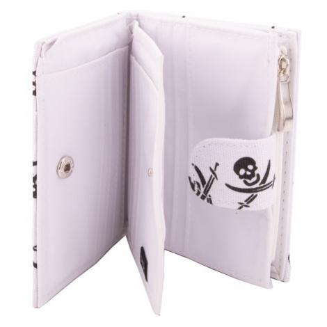 Bílá pirátská jednoduchá peněženka Sparou