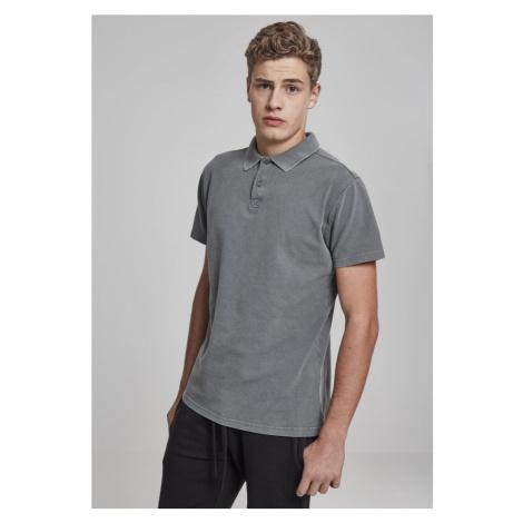 Garment Dye Pique Poloshirt - grey Urban Classics