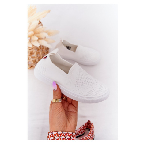 Children's Slip-On Sneakers Big Star HH374105 White Kesi