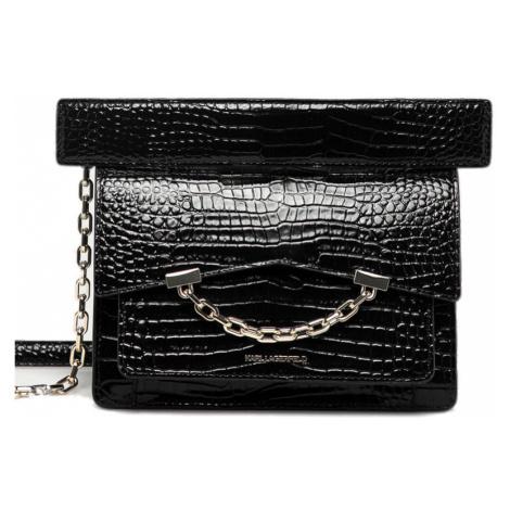 Černá lakovaná kožená kabelka - KARL LAGERFELD
