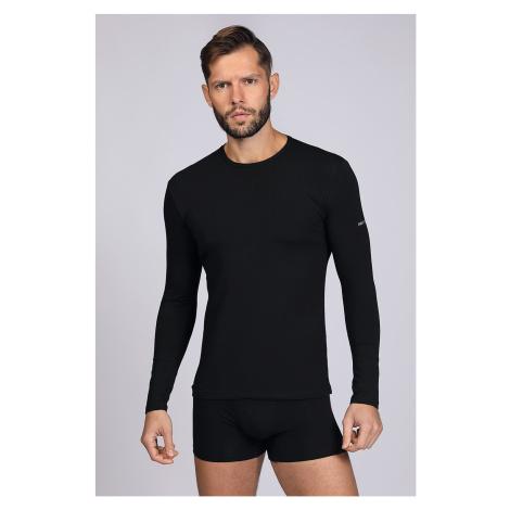 Černé tričko s dlouhým rukávem Enrico Coveri