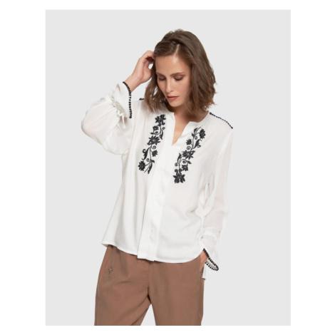 Halenka La Martina Woman Shirt L/S Twill Viscosa - Bílá