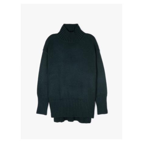 GATE Pletený pulovr s vysokým límcem