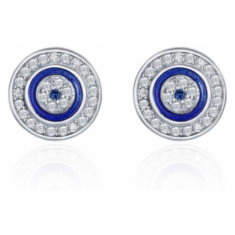 Linda's Jewelry Stříbrné náušnice Pecky Modré Oko Moudrosti Ag 925/1000 IN174