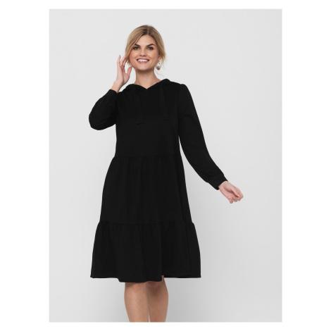Jacqueline de Yong černé mikinové šaty Dale