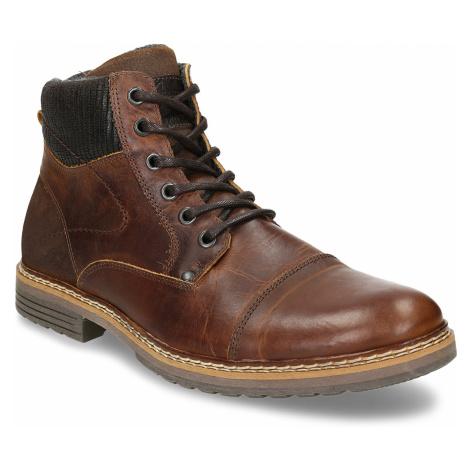 Kožená pánská obuv ve farmářském stylu Baťa