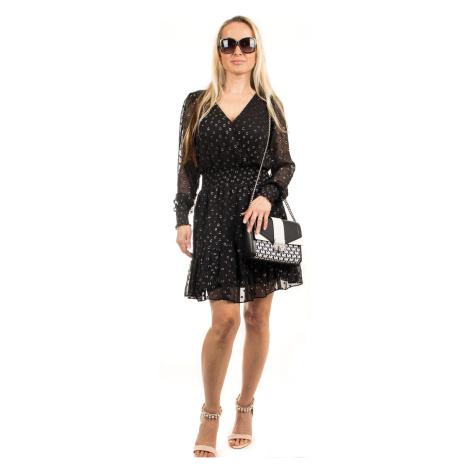 Michael Kors dámské šaty černé se stříbrnou