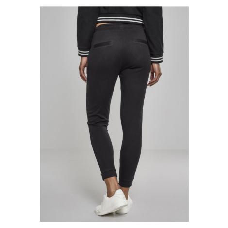 Ladies Interlock Jogpants - black/white Urban Classics