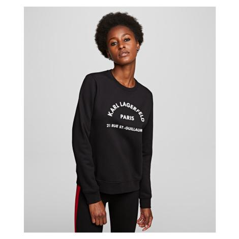 Mikina Karl Lagerfeld Address Logo Sweat - Černá