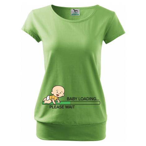 Těhotenské Tričko s potiskem Baby Loading BezvaTriko