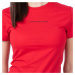 Calvin Klein Calvin Klein dámské červené tričko SS CN TEE WITH BACK LOGO