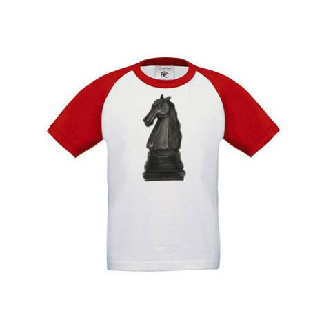 Dětské tričko baseball Kůň